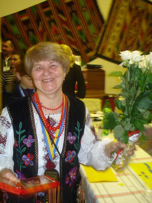 Голова Товариства Бойківщина у Великобританії кр. Ніна Гринаш