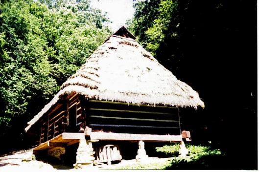 Скороднянська хата в музеї в м. Сянок, Польща