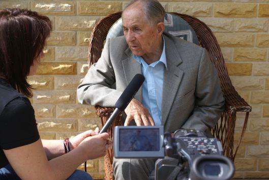 Під час розмови з Василем Лохаївським, Польща, 26.05.2012